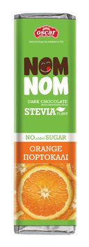Dark Chocolate with Orange Pieces and Stevia